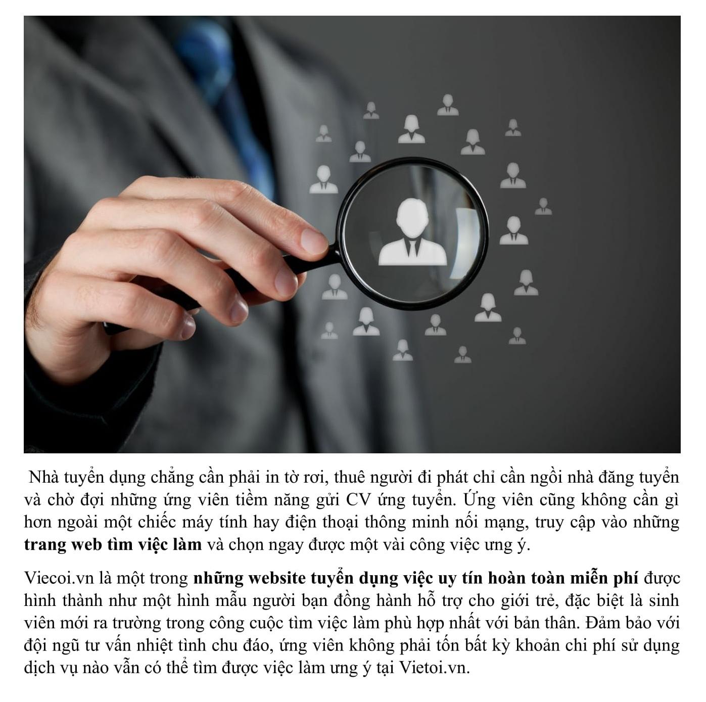 Bài viết seo mẫu cho trang website giới thiệu việc làm, tuyển dụng