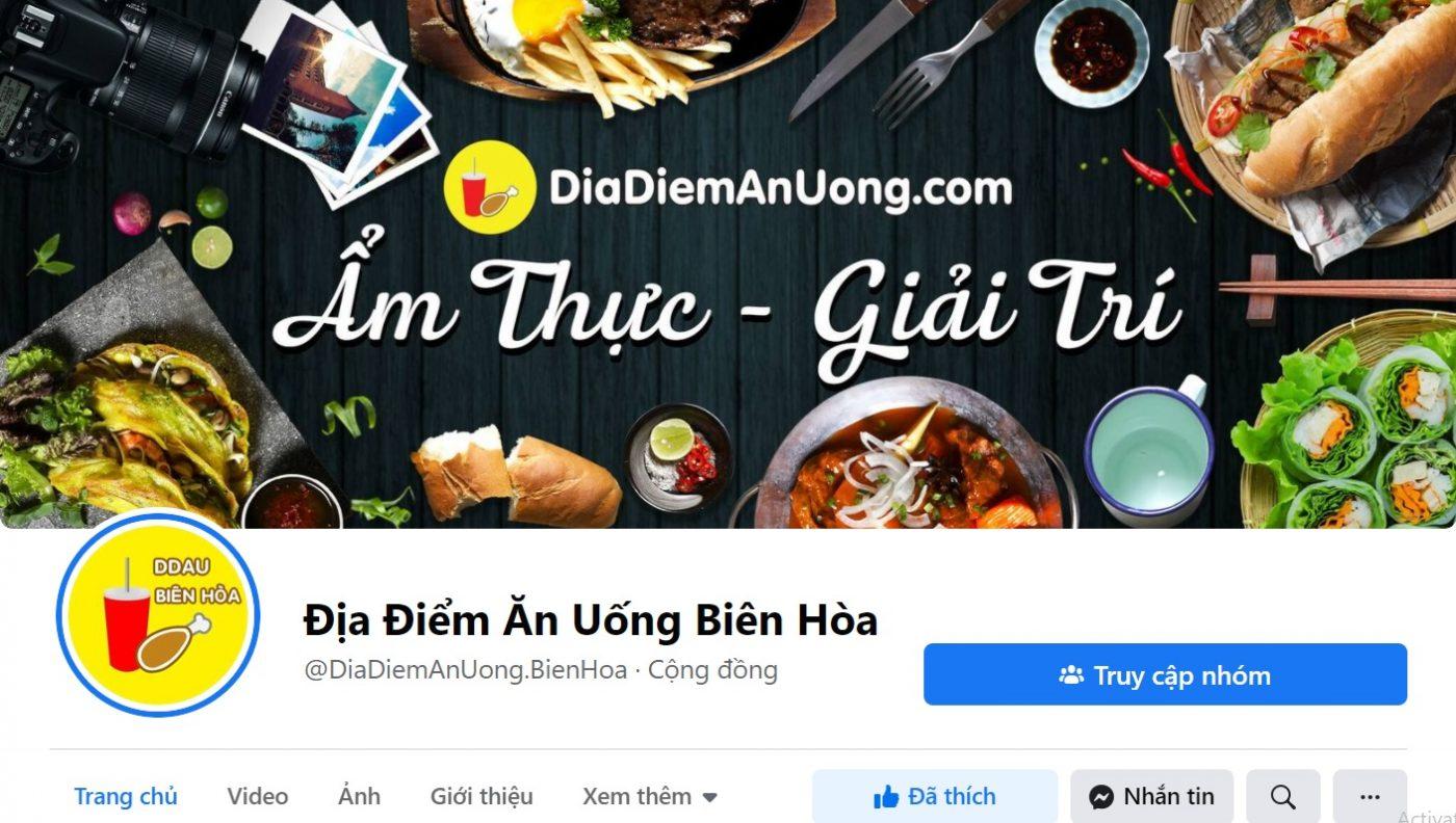 Bảng giá quảng cáo địa điểm ăn uống Biên Hòa Đồng Nai