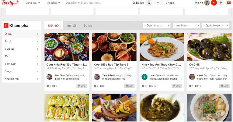 Foody Vũng Tàu: Bảng giá quảng cáo, liên hệ đăng ký truyền thông