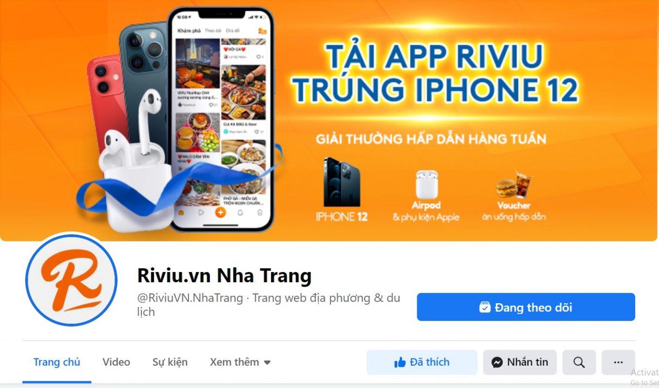 Bảng giá địa điểm ăn uống Nha Trang (FB Riviu.vn Nha Trang)